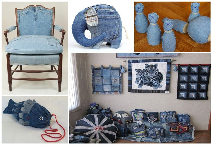 Даем жизнь старым джинсам.26 удивительных вещей для дома. - В РИТМІ ЖИТТЯ