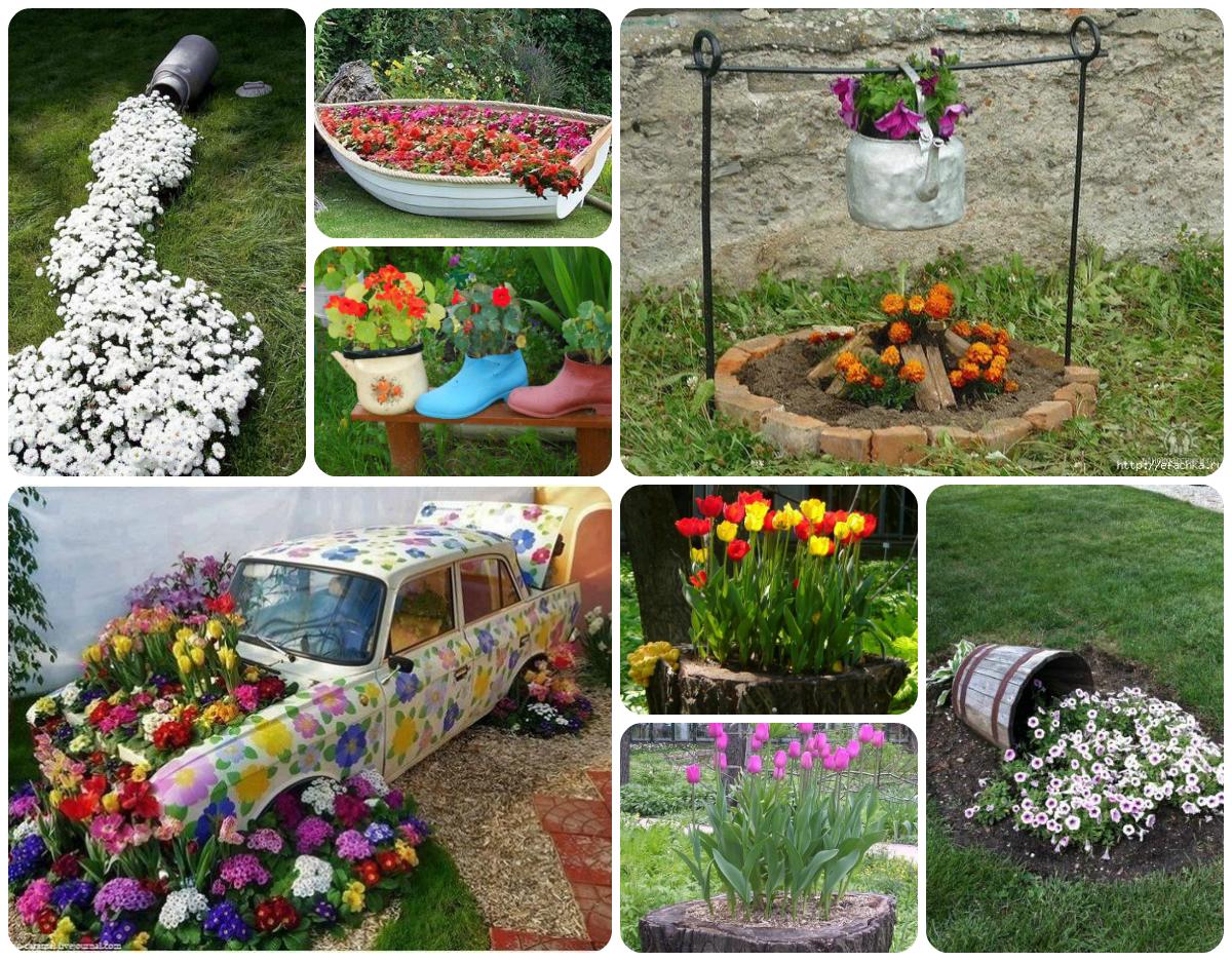 Оформление участка сада летом своими руками фото фото 360