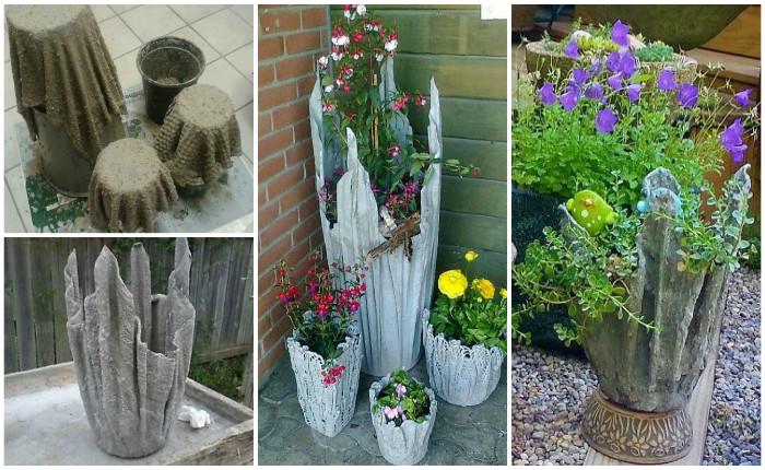 Кашпо и вазоны для сада своими руками 93