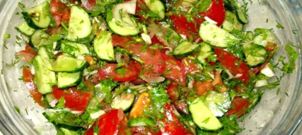 Фото салат из огурцов и помидоров на зиму