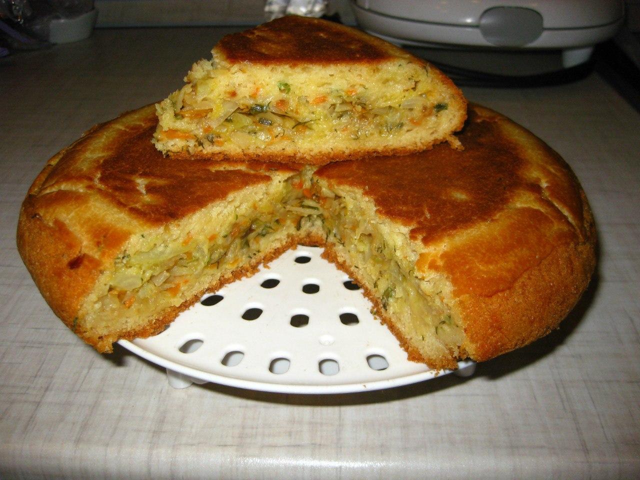 Заливной пирог с капустой в мультиварке рецепты пошагово