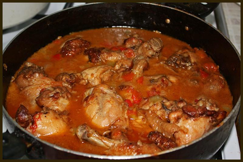 Тушеное мясо курицы рецепт с пошагово