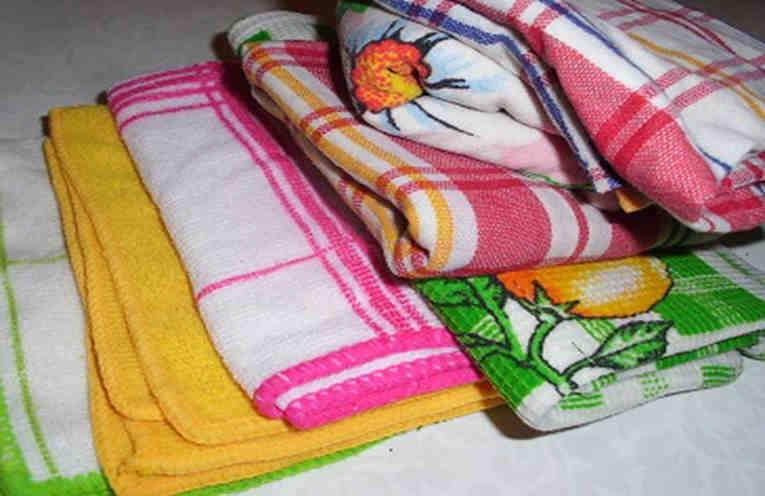 Как отстирать цветные кухонные полотенца в домашних условиях 892