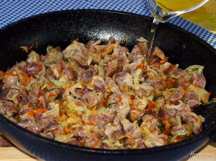 Подлива из куриных желудков рецепт