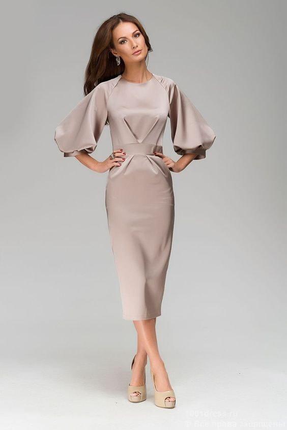 платья с пышными рукавами фото верой сказочное чудо